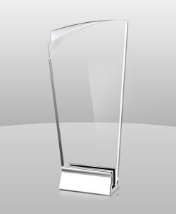 Acrylic Award with Metal Base