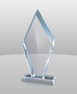 Blue Acrylic Arrowhead Award