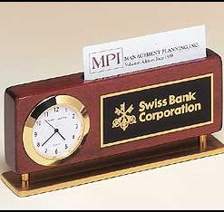 Business Card Holder Clock