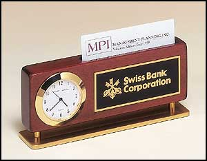 Business Card Holder Clock 1