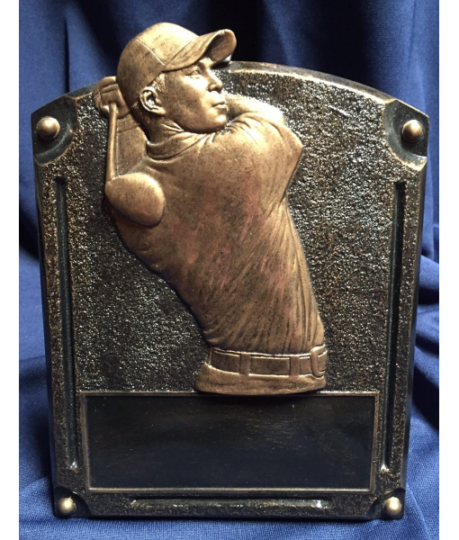 Golf Resin Plaque 1