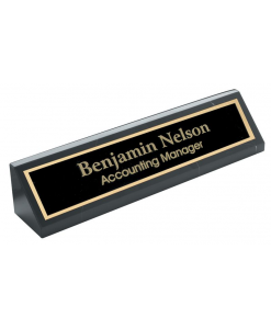 Black Marble Desk Sign