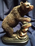 Bronzed Resin Bear