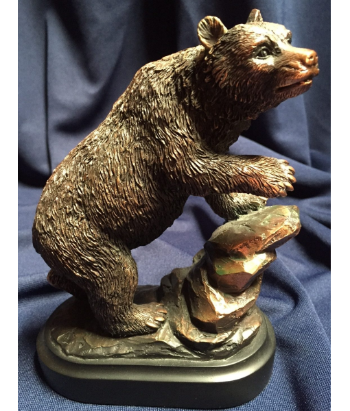 Bronzed Resin Bear 1
