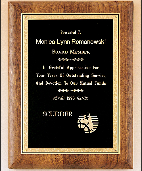 Solid Walnut Plaque 1