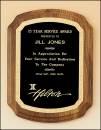 Notched Corner Walnut Plaque
