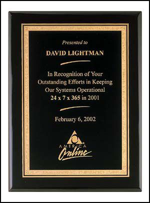 Black Piano Finish Plaque 1
