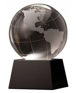 Crystal Globe with Black Base