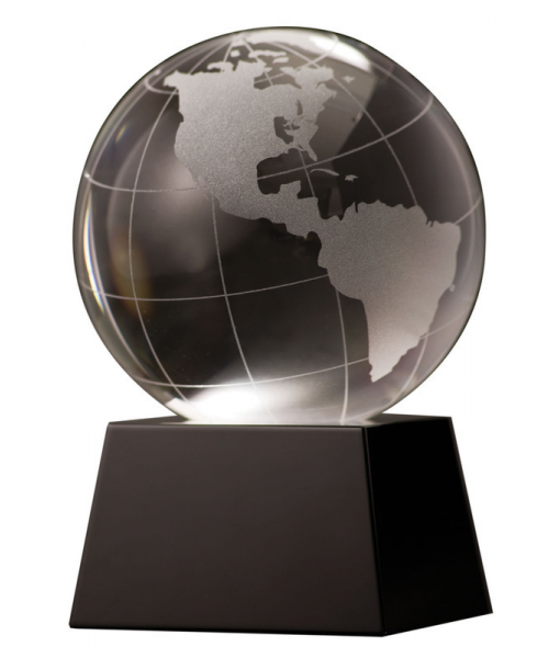 Crystal Globe with Black Base 1