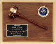 Solid Walnut Gavel Plaque