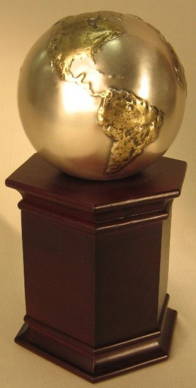 Cast Globe on Rosewood