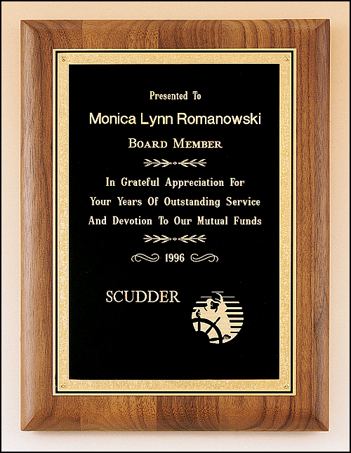 Solid Walnut Plaque