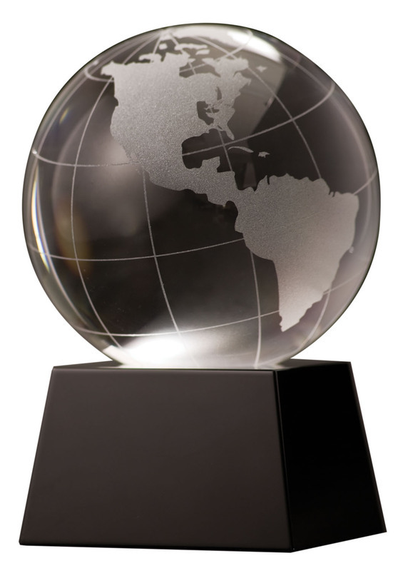 Crystal Globe with Black Base