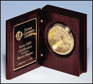Rosewood Book Clock